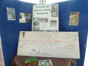 Cheque from Early Learning Centre displayed at Canning River Eco Education Centre