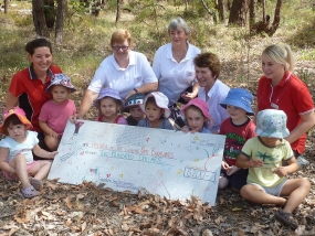 East Cannington ELC handing cheque to FQPB